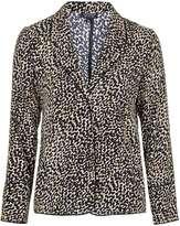 Topshop Animal Print Pyjama Style Jacket