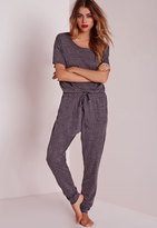 Missguided Speckle Loungewear Onesie Grey