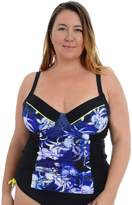 Cyn And Luca Plus Size Cyn and Luca Molded Printed Tankini Top