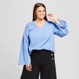 Who What Wear Women's Plus Size Drawstring Sleeve Top
