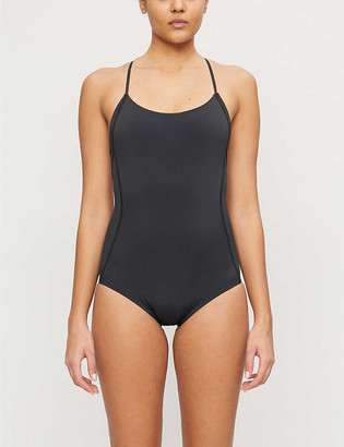 THINX Semi-sheer panel stretch-woven leotard