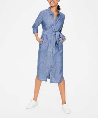 Boden Women's Tee Shirt Dresses CHM - Chambray Freya Linen-Blend Shirt Dress - Women, Women's Tall & Petite