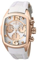 Invicta Women's 6800 Lupah Revolution Collection Chronograph White Leather Watch