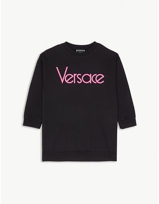 Versace Logo-print cotton sweatshirt dress 4-14 years