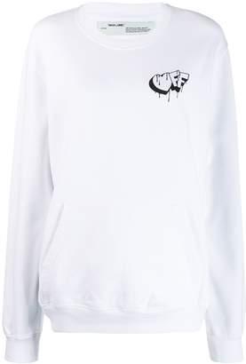 Off-White graffiti print oversized sweatshirt