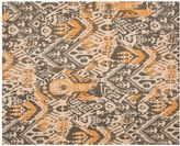Pottery Barn Ikat Printed Natural Fiber Rug - Gray