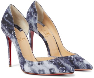 Christian Louboutin Iriza 100 printed denim pumps