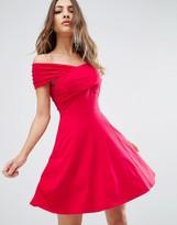 Asos Mini Skater Dress with Bardot Neckline
