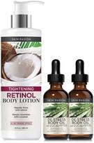 Skin Pasion De-Stress Eucalyptus Body Oils with Bonus Retinol Lotion 3-Piece Set