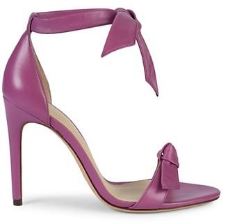 Alexandre Birman Clarita Ankle-Strap Leather Stiletto Sandals
