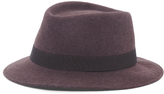 Made In Italy Wool Fedora Bow Hat