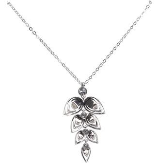 Ted Baker Womens Angella Angel Leaf Pendant Silver