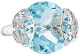 Ring 18K Topaz & Diamond