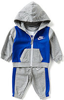 Nike Baby Boys Newborn-12 Months Color Block Jacket, Short-Sleeve Bodysuit & Pant Set