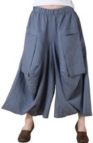Mordenmiss Women's Casual Harem Pants with Big Pockets L