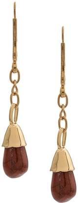 Marni stone pendant drop earring