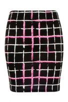 Select Fashion Fashion Womens Pink Neon Check Mini Skirt - size 10