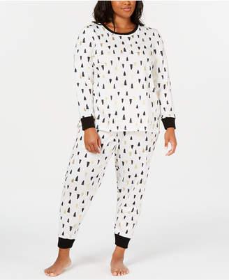 Matching Family Pajamas Plus Size Tree-Print Pajama Set
