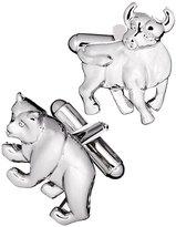 Jan Leslie Bull & Bear Cuff Links, Silver