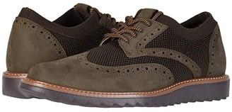 Dockers Hawking Knit/Leather Smart Series Dress Casual Wingtip Oxford with NeverWet (Olive Tweed Knit/Nubuck) Men's Lace up casual Shoes