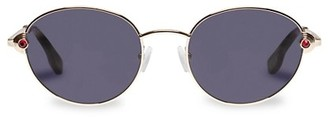 Le Specs Luxe Vamp 53MM Round Sunglasses
