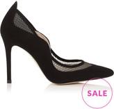 Karen Millen Suede And Mesh Court Shoes