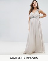 Mama Licious Mama.licious Premium Embellished Maxi Dress