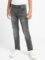 High stretch moto relaxed skinny jeans