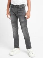 High stretch moto slouchy skinny jeans