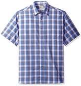 Haggar Men's Short Sleeve Weekender Woven Shirt