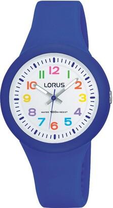 Lorus Unisex Child Analogue Quartz Watch with Silicone Strap RRX45EX9
