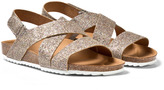 Mayoral Gold Glitter Strap Velcro Sandals