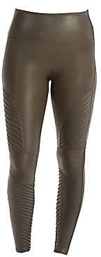Spanx Women's Faux Leather Moto Leggings