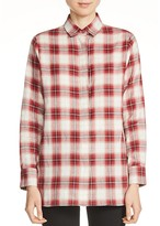 Maje Crunch Plaid Cotton Shirt
