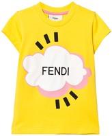 Fendi Yellow Branded Cloud Tee