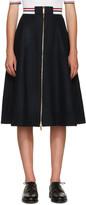 Thom Browne Navy Wool Varsity Skirt