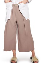 Topshop Petite Women's Vera Crop Wide Leg Trousers