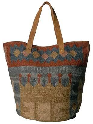 Scully Bia Woven Tote (Multi Greens/Browns/Tan) Handbags
