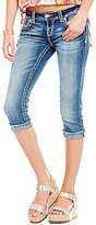 Miss Me Thick Stitch Stretch Denim Jean Capris