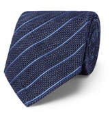 Tom Ford 8cm Striped Linen and Silk-Blend Tie