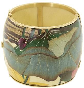 Silvia Furmanovich 18kt yellow gold Marquerty Leaf bangle bracelet