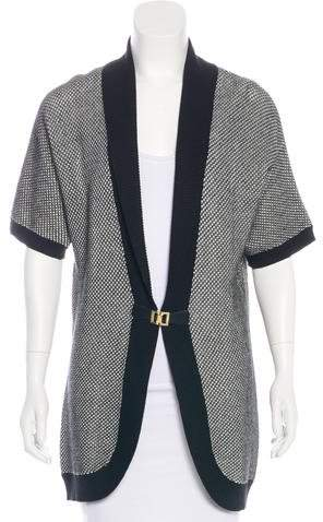 Calvin Klein Woven Knit Cardigan