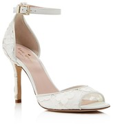 Kate Spade Ideline Lace Ankle Strap High Heel Sandals