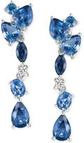 LeVian Le Vian® Ceylon Sapphire (2-3/4 ct. t.w.) and Diamond Accent Drop Earrings in 14k White Gold, Only at Macy's