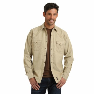 Wrangler Men's Big & Tall Corduroy Retro Two Pocket Long Sleeve Snap Shirt