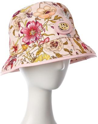 Gucci Floral Print Linen-Blend Hat