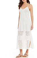 Roxy Ur Mine Crochet V-Neck Knit Midi Dress
