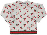 Gucci Printed Cherry Cotton Jersey Sweatshirt