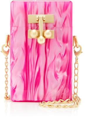 Edie Parker Marbled Acrylic Mini Bag
