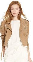 Polo Ralph Lauren Suede Cropped Moto Jacket
